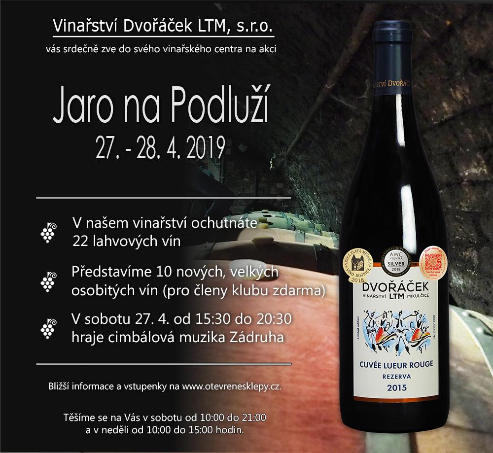 Jaro na Podluží ve vinařském centru Dvořáček LTM
